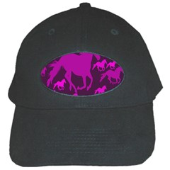 Pink Horses Horse Animals Pattern Colorful Colors Black Cap