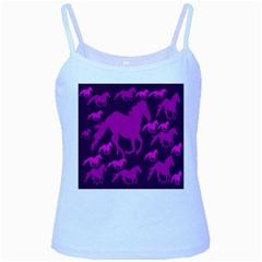 Pink Horses Horse Animals Pattern Colorful Colors Baby Blue Spaghetti Tank