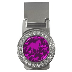Pink Horses Horse Animals Pattern Colorful Colors Money Clips (cz)