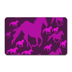 Pink Horses Horse Animals Pattern Colorful Colors Magnet (rectangular)