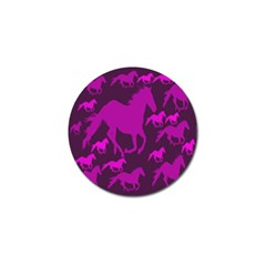Pink Horses Horse Animals Pattern Colorful Colors Golf Ball Marker (4 pack)