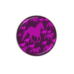 Pink Horses Horse Animals Pattern Colorful Colors Hat Clip Ball Marker (4 pack)