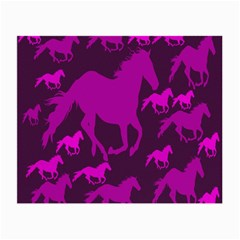 Pink Horses Horse Animals Pattern Colorful Colors Small Glasses Cloth