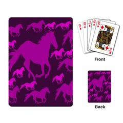 Pink Horses Horse Animals Pattern Colorful Colors Playing Card