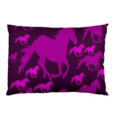 Pink Horses Horse Animals Pattern Colorful Colors Pillow Case