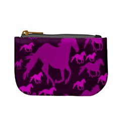 Pink Horses Horse Animals Pattern Colorful Colors Mini Coin Purses