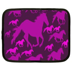Pink Horses Horse Animals Pattern Colorful Colors Netbook Case (XXL)