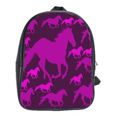 Pink Horses Horse Animals Pattern Colorful Colors School Bags(large)