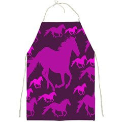 Pink Horses Horse Animals Pattern Colorful Colors Full Print Aprons