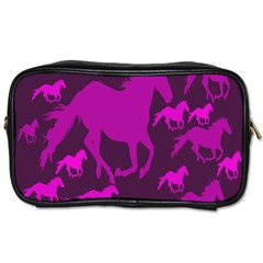 Pink Horses Horse Animals Pattern Colorful Colors Toiletries Bags