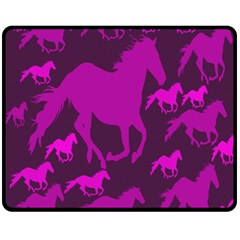 Pink Horses Horse Animals Pattern Colorful Colors Fleece Blanket (medium)