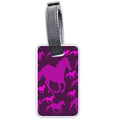 Pink Horses Horse Animals Pattern Colorful Colors Luggage Tags (one Side)