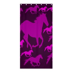 Pink Horses Horse Animals Pattern Colorful Colors Shower Curtain 36  X 72  (stall)