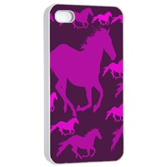 Pink Horses Horse Animals Pattern Colorful Colors Apple iPhone 4/4s Seamless Case (White)