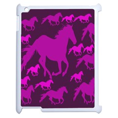Pink Horses Horse Animals Pattern Colorful Colors Apple iPad 2 Case (White)