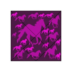 Pink Horses Horse Animals Pattern Colorful Colors Acrylic Tangram Puzzle (4  x 4 )