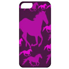 Pink Horses Horse Animals Pattern Colorful Colors Apple Iphone 5 Classic Hardshell Case