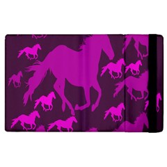Pink Horses Horse Animals Pattern Colorful Colors Apple iPad 3/4 Flip Case