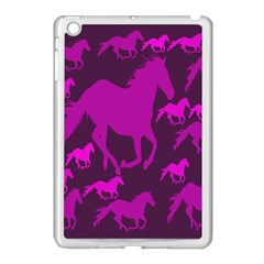 Pink Horses Horse Animals Pattern Colorful Colors Apple iPad Mini Case (White)