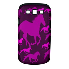Pink Horses Horse Animals Pattern Colorful Colors Samsung Galaxy S III Classic Hardshell Case (PC+Silicone)