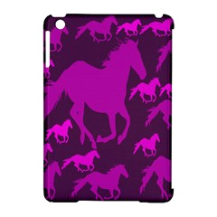 Pink Horses Horse Animals Pattern Colorful Colors Apple iPad Mini Hardshell Case (Compatible with Smart Cover)