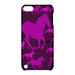 Pink Horses Horse Animals Pattern Colorful Colors Apple iPod Touch 5 Hardshell Case with Stand