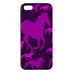 Pink Horses Horse Animals Pattern Colorful Colors Apple iPhone 5 Premium Hardshell Case