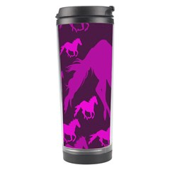 Pink Horses Horse Animals Pattern Colorful Colors Travel Tumbler