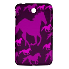 Pink Horses Horse Animals Pattern Colorful Colors Samsung Galaxy Tab 3 (7 ) P3200 Hardshell Case