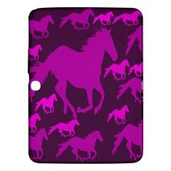 Pink Horses Horse Animals Pattern Colorful Colors Samsung Galaxy Tab 3 (10.1 ) P5200 Hardshell Case