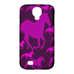 Pink Horses Horse Animals Pattern Colorful Colors Samsung Galaxy S4 Classic Hardshell Case (PC+Silicone)