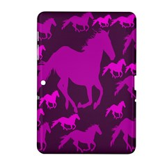 Pink Horses Horse Animals Pattern Colorful Colors Samsung Galaxy Tab 2 (10.1 ) P5100 Hardshell Case