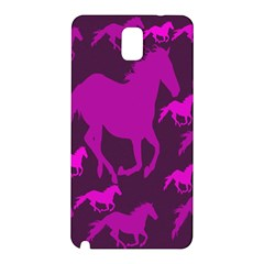 Pink Horses Horse Animals Pattern Colorful Colors Samsung Galaxy Note 3 N9005 Hardshell Back Case