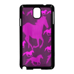 Pink Horses Horse Animals Pattern Colorful Colors Samsung Galaxy Note 3 Neo Hardshell Case (Black)