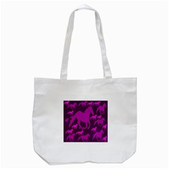 Pink Horses Horse Animals Pattern Colorful Colors Tote Bag (white)