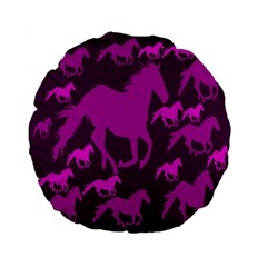 Pink Horses Horse Animals Pattern Colorful Colors Standard 15  Premium Flano Round Cushions