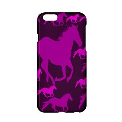 Pink Horses Horse Animals Pattern Colorful Colors Apple iPhone 6/6S Hardshell Case