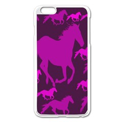 Pink Horses Horse Animals Pattern Colorful Colors Apple Iphone 6 Plus/6s Plus Enamel White Case