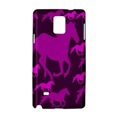 Pink Horses Horse Animals Pattern Colorful Colors Samsung Galaxy Note 4 Hardshell Case