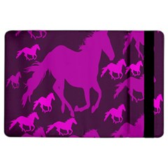 Pink Horses Horse Animals Pattern Colorful Colors iPad Air 2 Flip