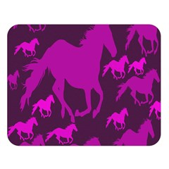 Pink Horses Horse Animals Pattern Colorful Colors Double Sided Flano Blanket (Large)