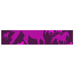 Pink Horses Horse Animals Pattern Colorful Colors Flano Scarf (small)
