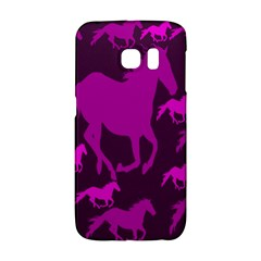 Pink Horses Horse Animals Pattern Colorful Colors Galaxy S6 Edge