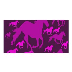 Pink Horses Horse Animals Pattern Colorful Colors Satin Shawl
