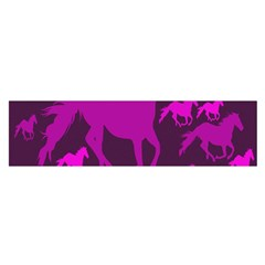 Pink Horses Horse Animals Pattern Colorful Colors Satin Scarf (oblong)