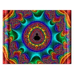 3d Glass Frame With Kaleidoscopic Color Fractal Imag Rectangular Jigsaw Puzzl