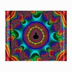 3d Glass Frame With Kaleidoscopic Color Fractal Imag Small Glasses Cloth