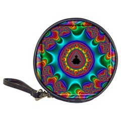 3d Glass Frame With Kaleidoscopic Color Fractal Imag Classic 20 Cd Wallets