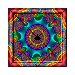 3d Glass Frame With Kaleidoscopic Color Fractal Imag Acrylic Tangram Puzzle (6  X 6 )