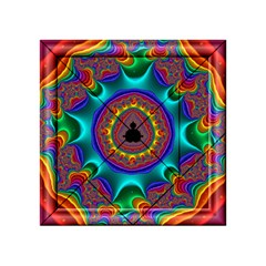 3d Glass Frame With Kaleidoscopic Color Fractal Imag Acrylic Tangram Puzzle (4  x 4 )